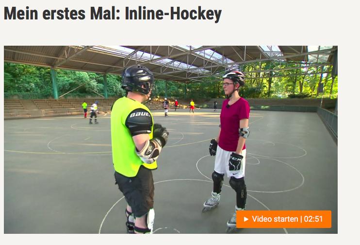 Buten un Binnen beim Inline Hockey