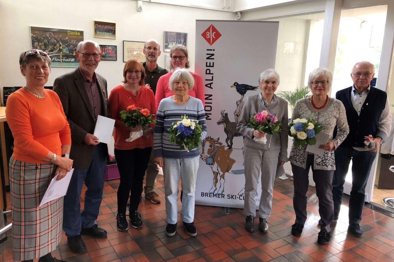 Jubilare des Bremer Ski-Clubs geehrt