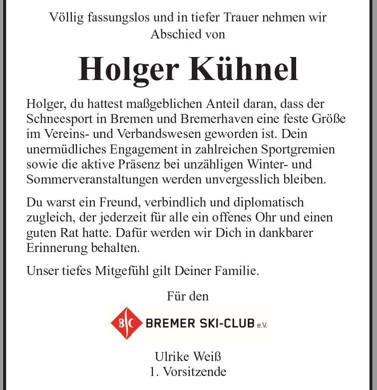 Wir trauern um Holger Kühnel